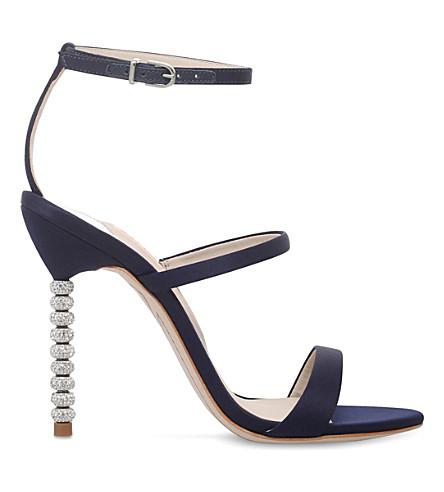 b55206d50a0 SOPHIA WEBSTER - Rosalind crystal-embellished satin sandals ...