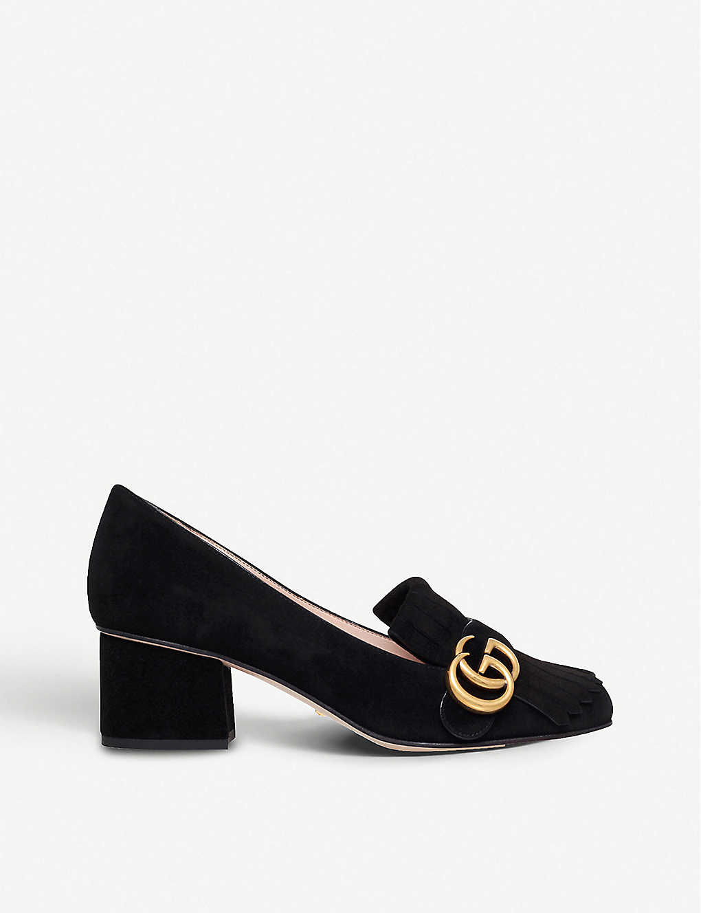 a503178e55 GUCCI - Marmont fringed suede loafers | Selfridges.com