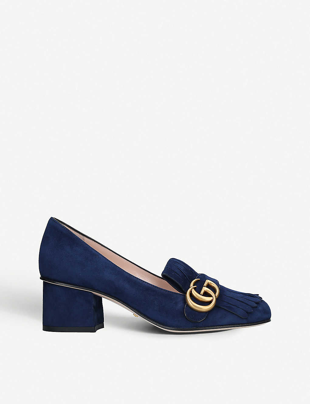 96a5caac646 Marmont fringed suede loafers - Blue ...