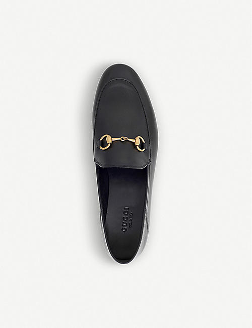 GUCCI Brixton collapsible leather loafers