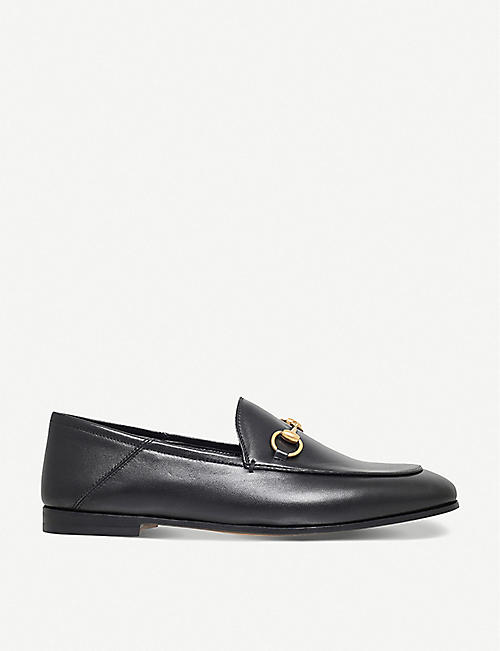 GUCCI: Brixton collapsible leather loafers
