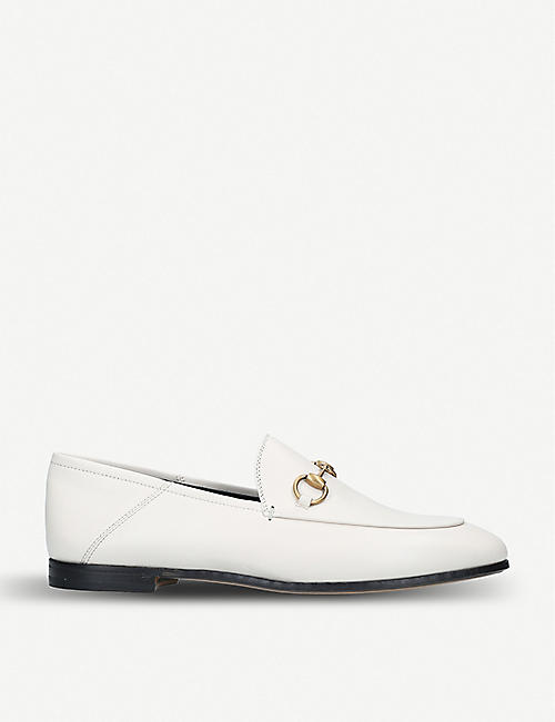 85264cbfe08 GUCCI Brixton collapsible leather loafers