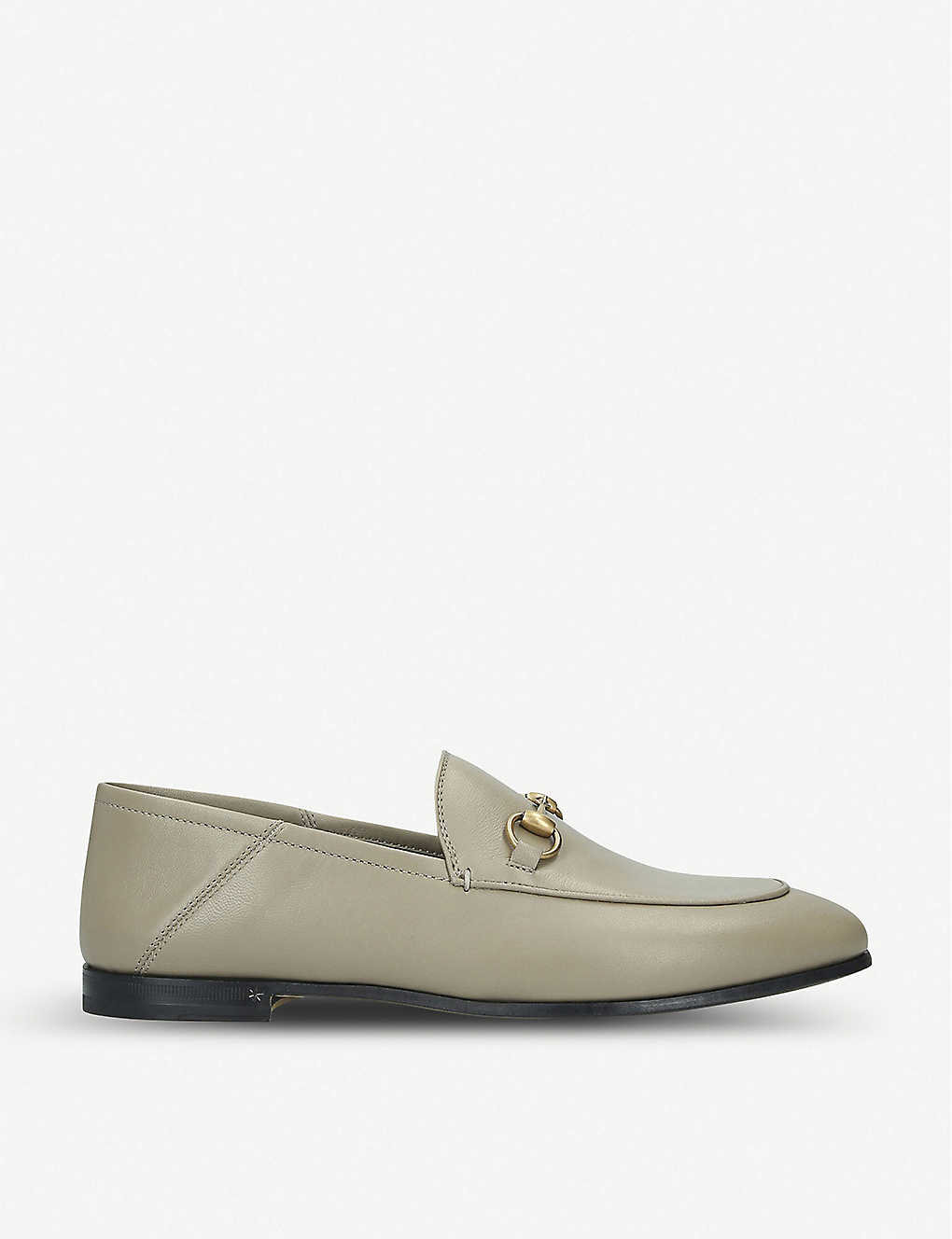 GUCCI: Brixton leather loafers