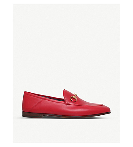 967a8bed166 GUCCI Brixton collapsible leather loafers (Red