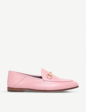 GUCCI Brixton leather collapsible loafers