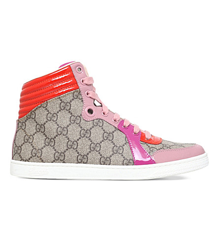 eeaa48eceb0 GUCCI Coda supreme GG high-top trainers (Pale+pink