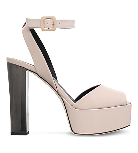 387aa47629ec ... usa giuseppe zanotti betty platform patent leather sandals nude.  previousnext 3a108 07c16