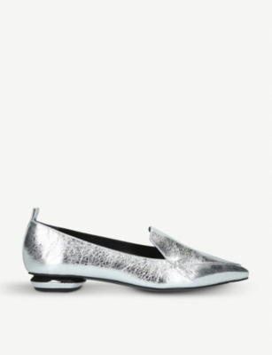 NICHOLAS KIRKWOOD Beya metallic-leather loafers