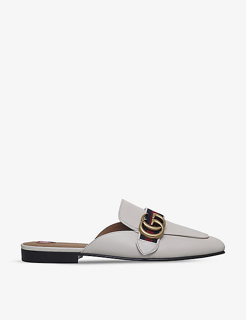 GUCCI: Peyton leather slipper