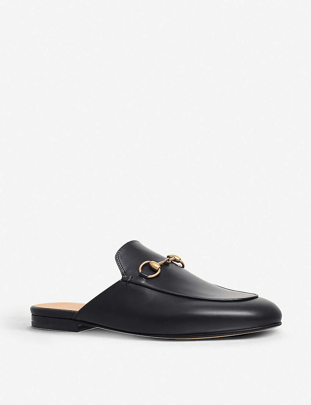f1f1982f55d ... Princetown leather backless loafers - Black ...