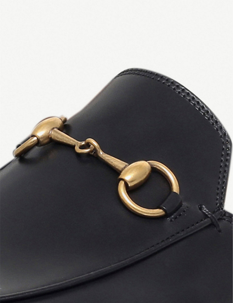 29470c59 GUCCI - Princetown leather backless loafers | Selfridges.com