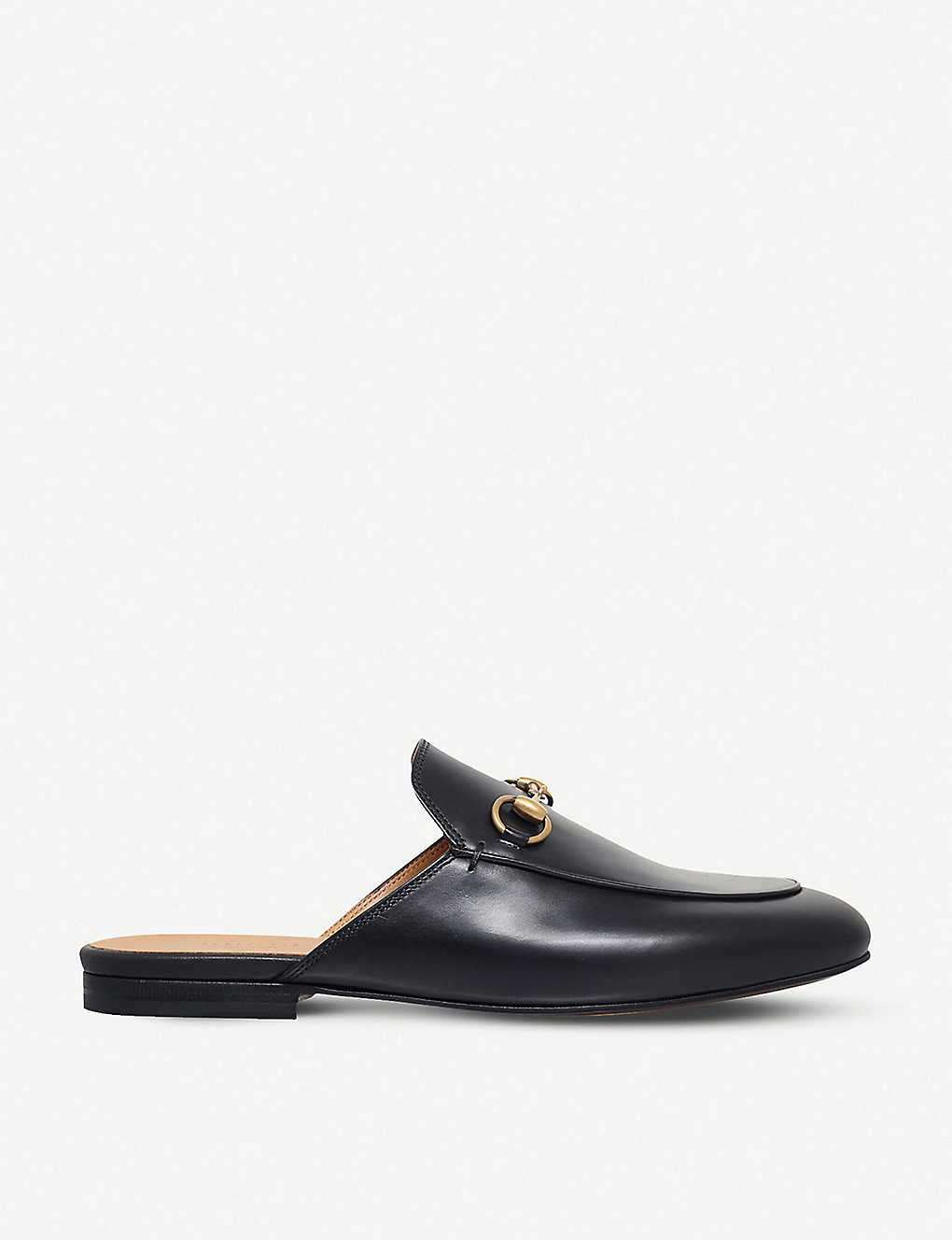 GUCCI: Princetown leather backless loafers