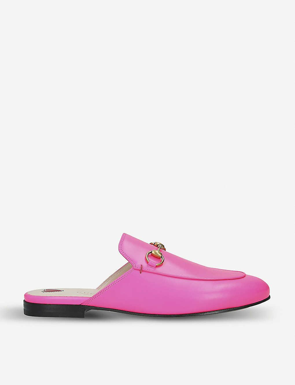 0da087fc9 GUCCI - Princetown fluorescent-leather slippers | Selfridges.com
