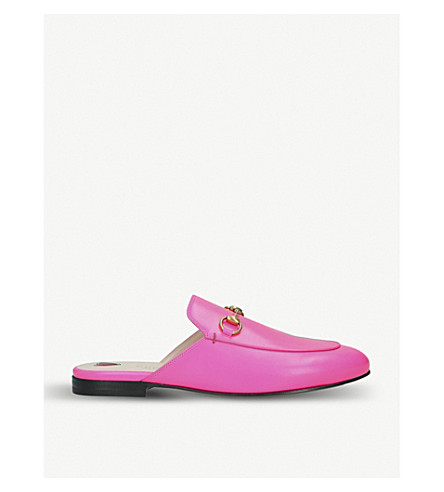 Gucci Slippers PRINCETOWN FLUORESCENT-LEATHER SLIPPERS
