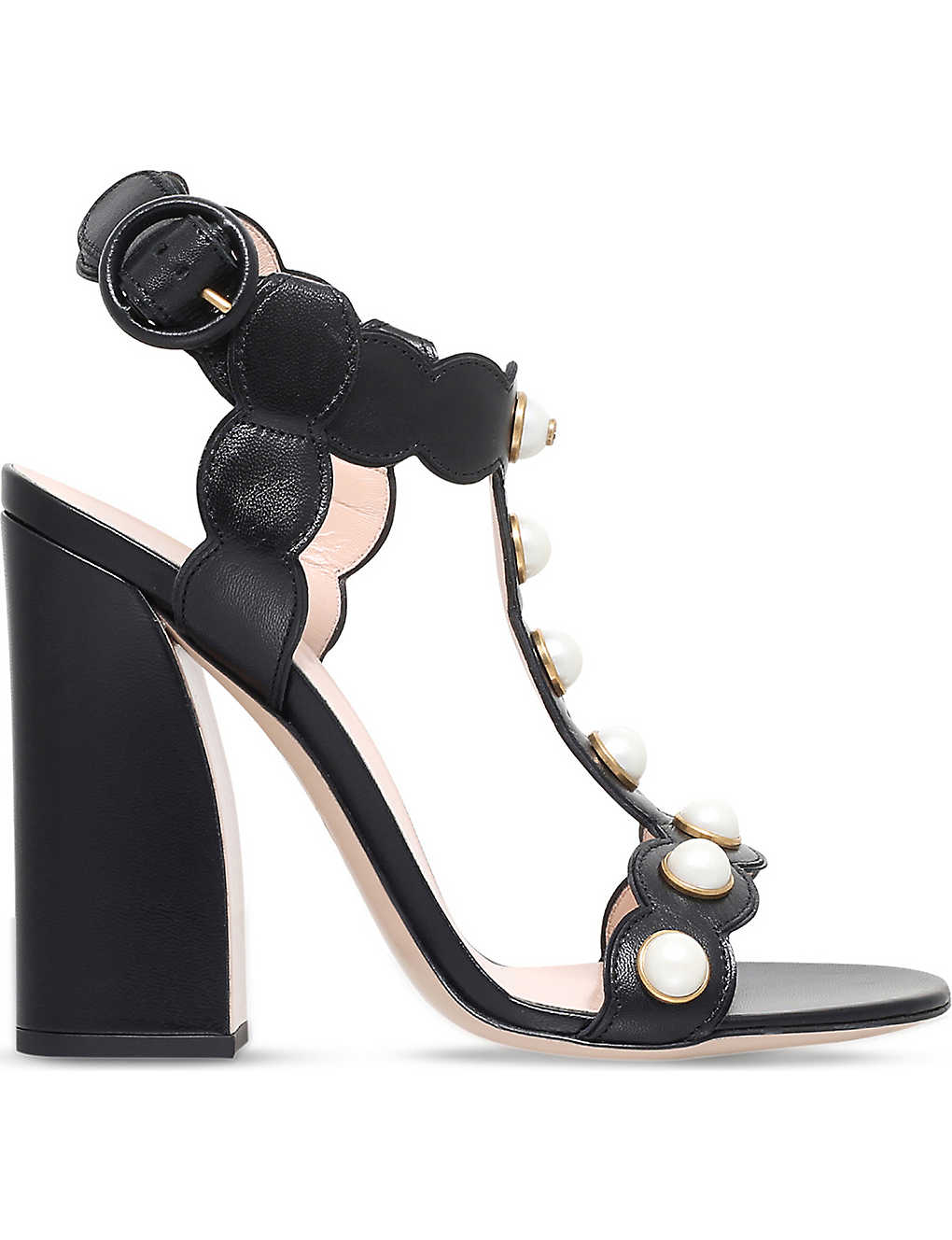 98e3f1ece GUCCI - Willow leather t-bar sandals | Selfridges.com