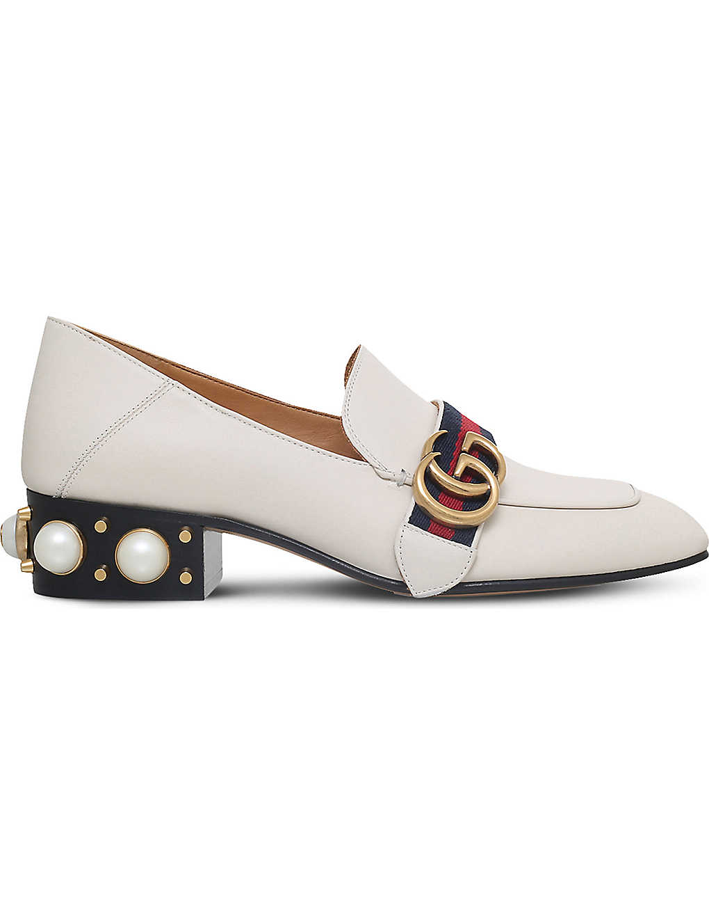 8c5db2791 GUCCI - Peyton Pearl leather loafers | Selfridges.com