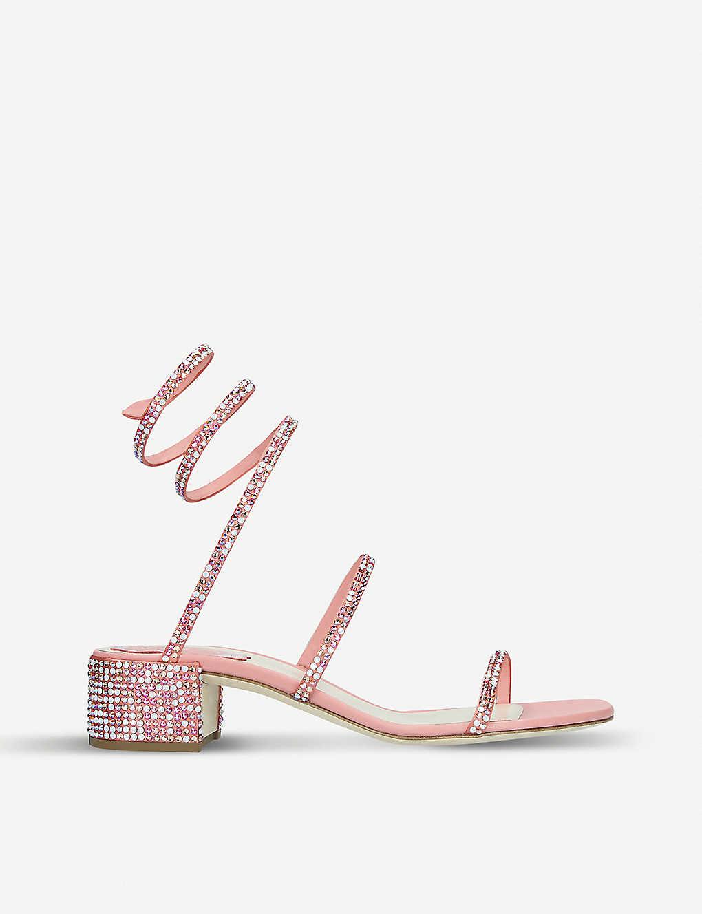 5f3b93a2c6a Cleo crystal-embellished satin sandals