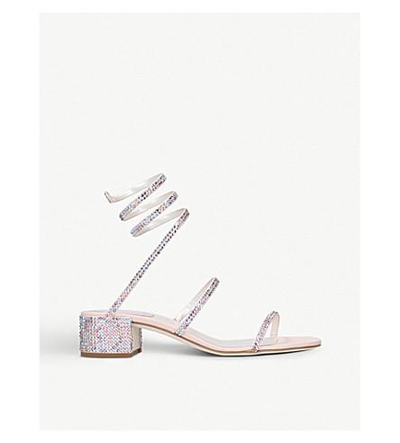 c0ca87d8179b0 RENE CAOVILLA - Twirl 40 Swarovski-embellished satin sandals ...