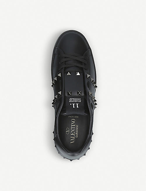 VALENTINO Rockstud leather low-top trainers
