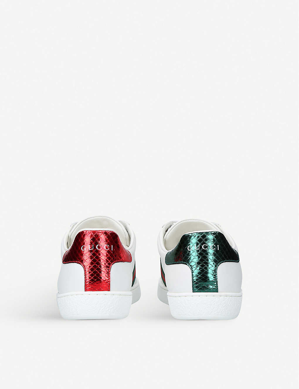 330d64c4cd5 ... Ladies New Ace bee-embroidered leather trainers - Whitered zoom