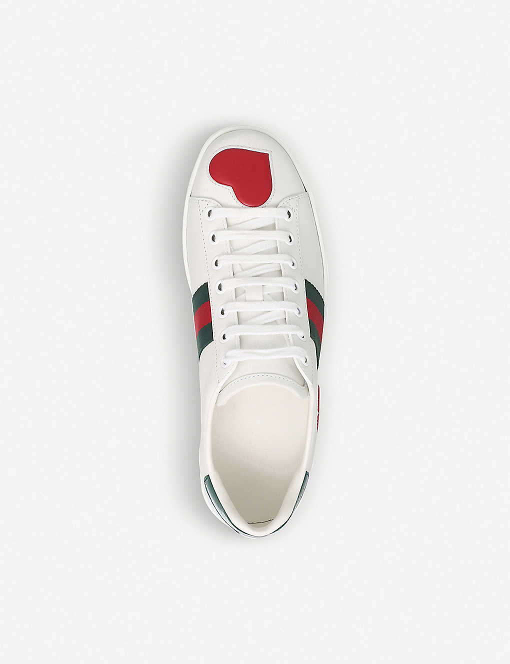 3531692d46e ... New Ace heart-detail leather trainers - Whitered ...