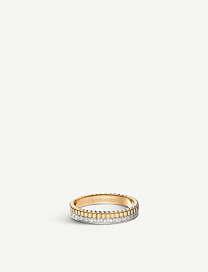 BOUCHERON Quatre Radiant Edition 18ct yellow-gold, white-gold and diamond wedding band