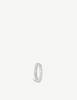 BOUCHERON Quatre Grosgrain 18ct white gold wedding band