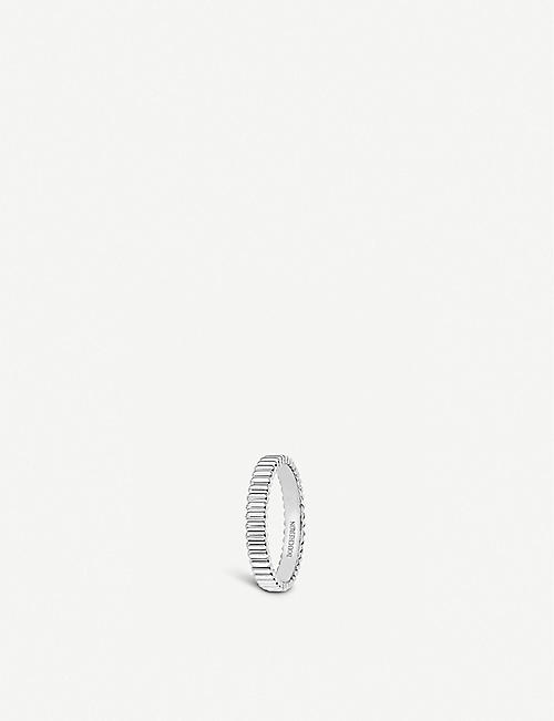BOUCHERON: Quatre Grosgrain 18ct white gold wedding band