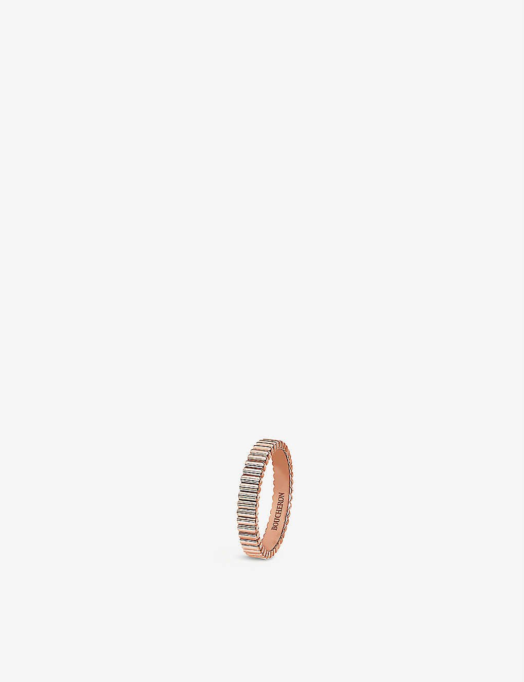 BOUCHERON: Quatre Grosgrain 18ct rose-gold wedding band