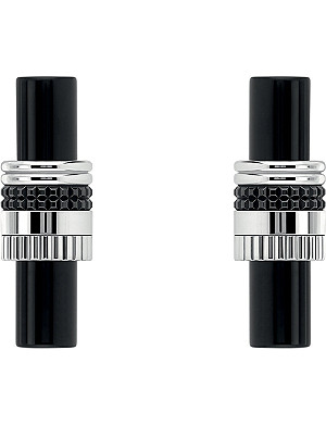 BOUCHERON Quatre Black Edition 18ct white-gold and onyx wedding cufflinks