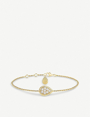 BOUCHERON Serpent Boheme 18ct yellow gold and diamond bracelet