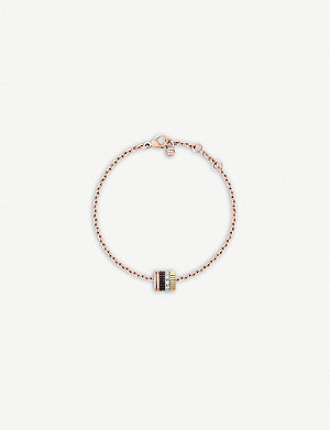 BOUCHERON Quatre Classique 18ct white, yellow, rose gold and diamond bracelet