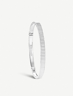 BOUCHERON Quatre Grosgrain 18 ct white gold bracelet