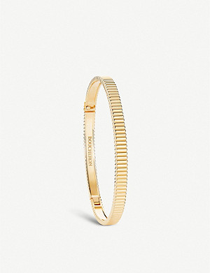 BOUCHERON Quatre Grosgrain 18ct yellow gold bracelet