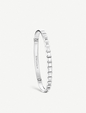 BOUCHERON Quatre Clou de Paris 18ct white bangle bracelet