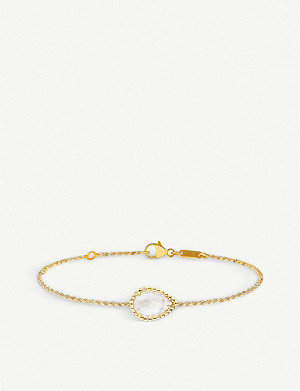 BOUCHERON Serpent Bohème 18ct yellow-gold and white mother-of-pearl bracelet