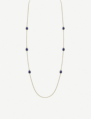 BOUCHERON Serpent Boh?me 18ct yellow-gold and lapis lazuli necklace