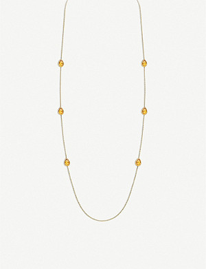 BOUCHERON Serpent Bohème 18ct yellow-gold and citrin necklace