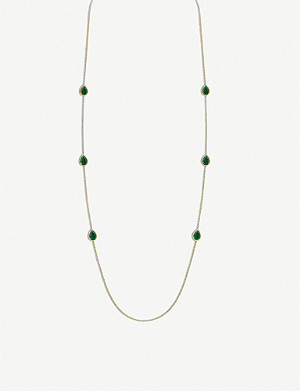 BOUCHERON Serpent Bohème 18ct yellow-gold and malachite necklace