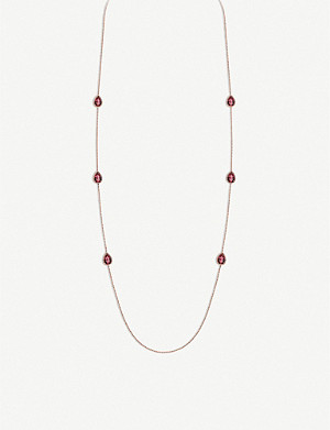 BOUCHERON Serpent Bohème 18ct pink-gold and rhodolite garnet necklace
