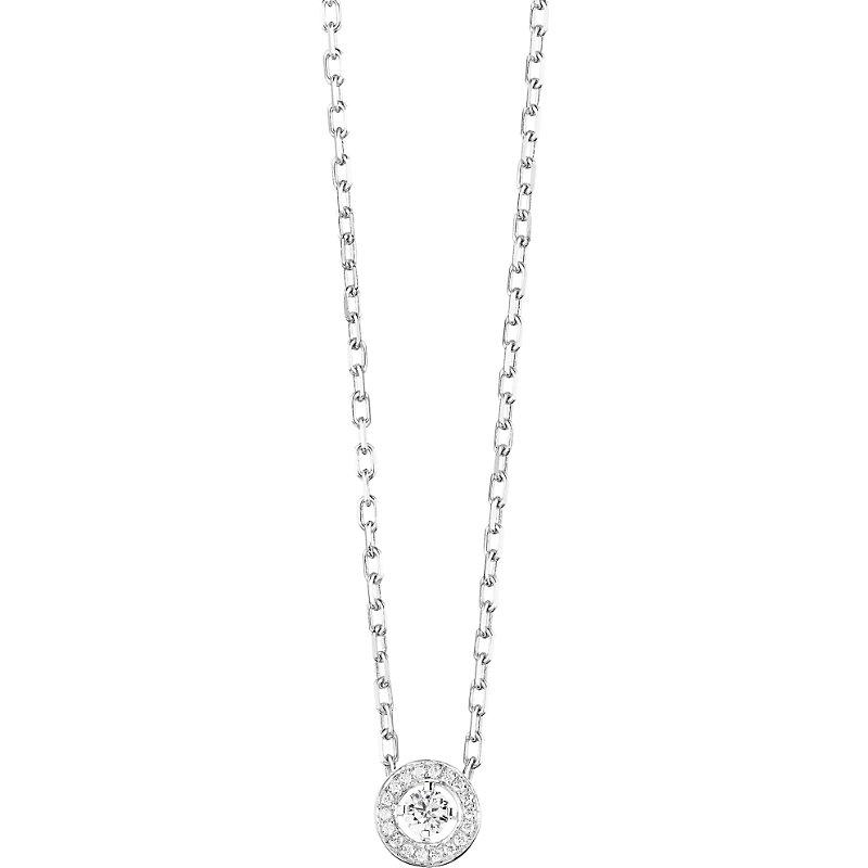 bf9f66b869c638 Boucheron Ava 18ct white-gold and diamond round pendant necklace, white -  £4,280.00 - Bullring & Grand Central
