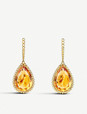BOUCHERON Serpent Bohème 18ct yellow-gold and citrin earrings