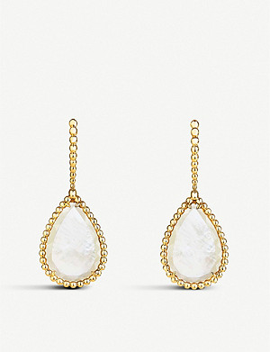 BOUCHERON Serpent Bohème 18ct yellow-gold and mother-of-pearl earrings