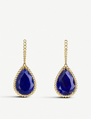 BOUCHERON Serpent Boh?me 18ct yellow-gold and lapis lazuli earrings