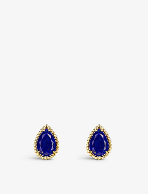 BOUCHERON Serpent Bohème 18ct yellow-gold and lapis lazuli earrings