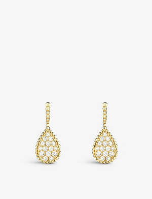 BOUCHERON Serpent Boh?me 18ct yellow-gold and diamond earrings