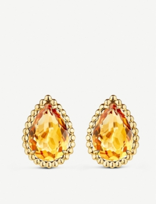 BOUCHERON Serpent Bohème 18ct yellow-gold and citrins earrings