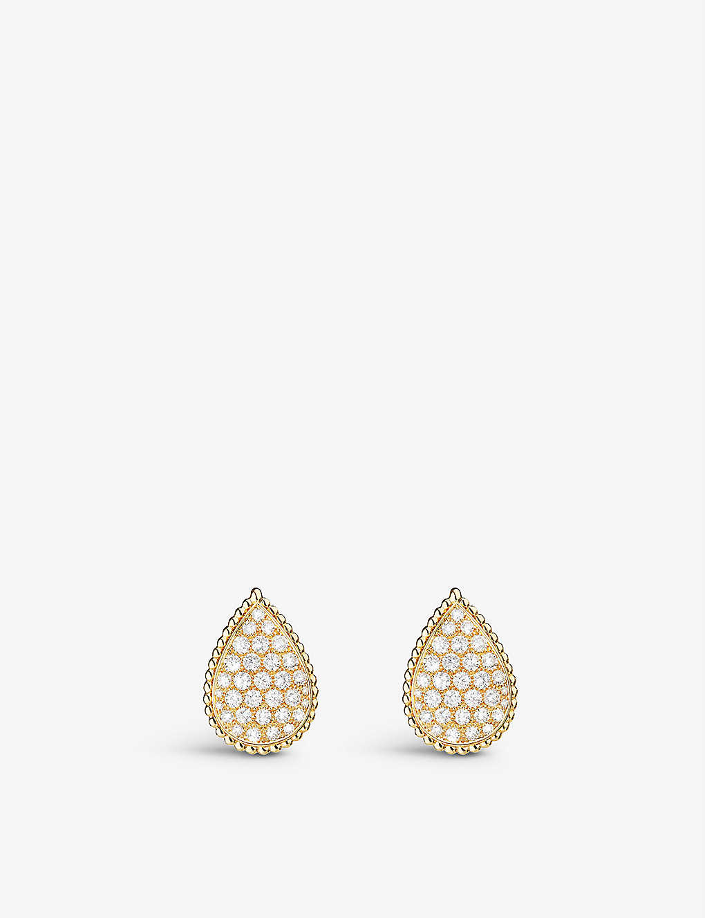 BOUCHERON: Serpent Bohème 18ct yellow-gold and diamond earrings