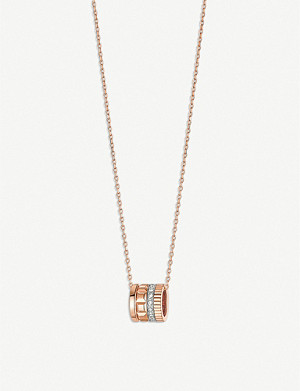 BOUCHERON Quatre Radiant 18ct pink-gold and diamond necklace