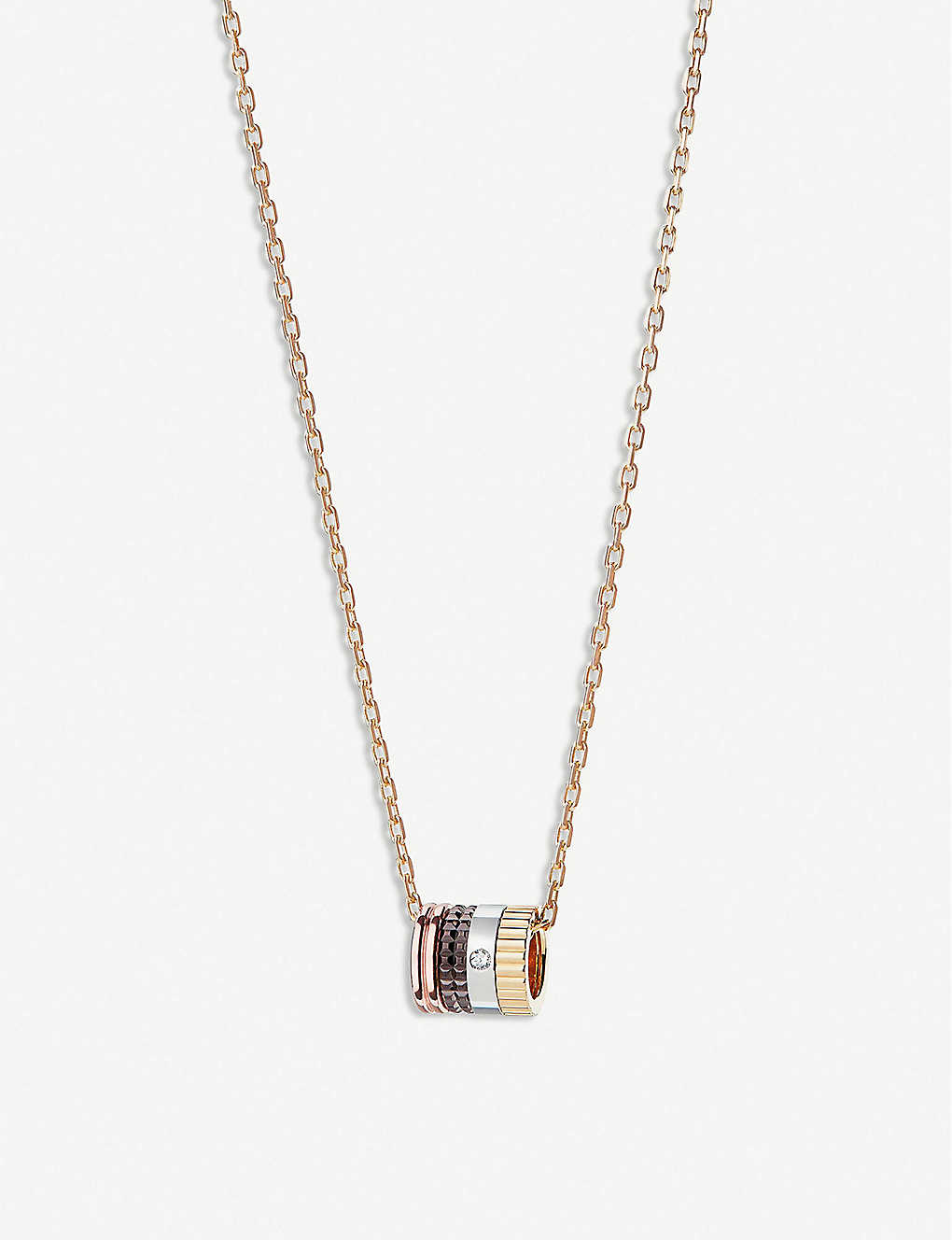 BOUCHERON: Quatre Classique 18ct yellow, white and rose-gold and diamond necklace